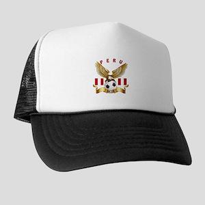 Peru Football Design Trucker Hat