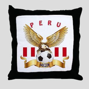Peru Football Design Throw Pillow