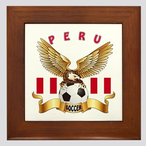 Peru Football Design Framed Tile