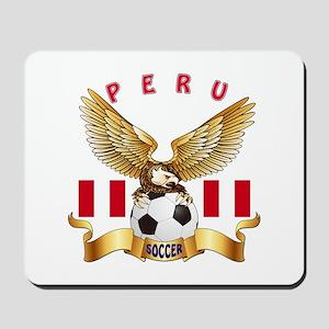 Peru Football Design Mousepad