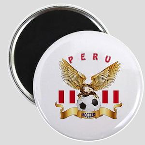 Peru Football Design Magnet