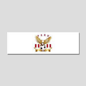 Peru Football Design Car Magnet 10 x 3