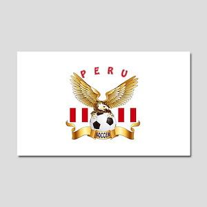 Peru Football Design Car Magnet 20 x 12