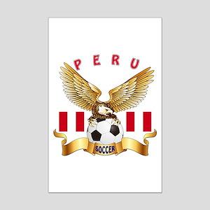 Peru Football Design Mini Poster Print