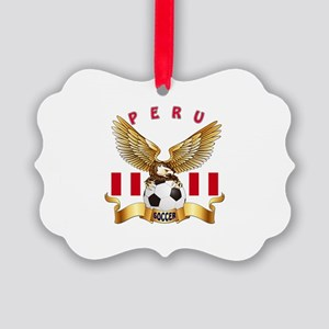 Peru Football Design Picture Ornament