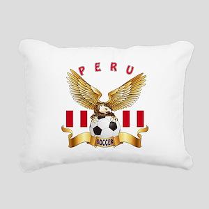 Peru Football Design Rectangular Canvas Pillow