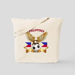 Philippines Football Design Tote Bag