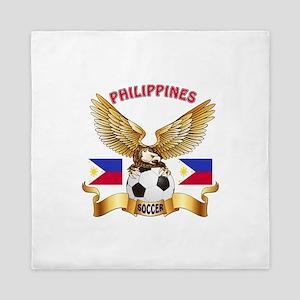 Philippines Football Design Queen Duvet