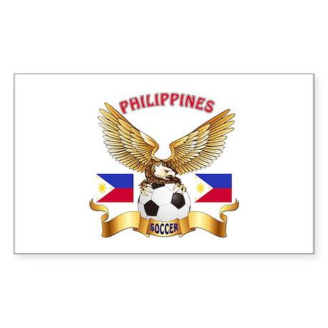 Philippines Football Design Sticker (Rectangle)