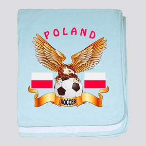 Poland Football Design baby blanket