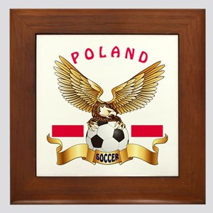 Poland Football Design Framed Tile