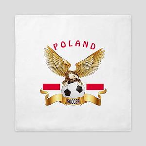 Poland Football Design Queen Duvet