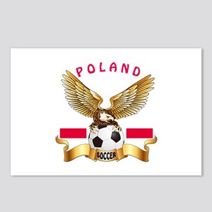 Poland Football Design Postcards (Package of 8)