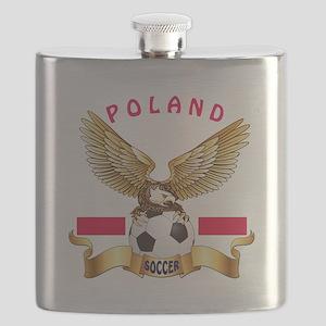 Poland Football Design Flask