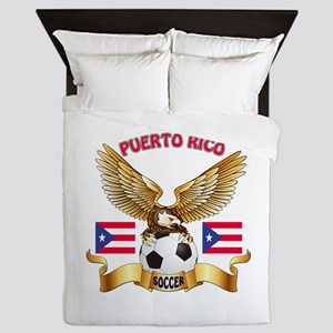Puerto Rico Football Design Queen Duvet