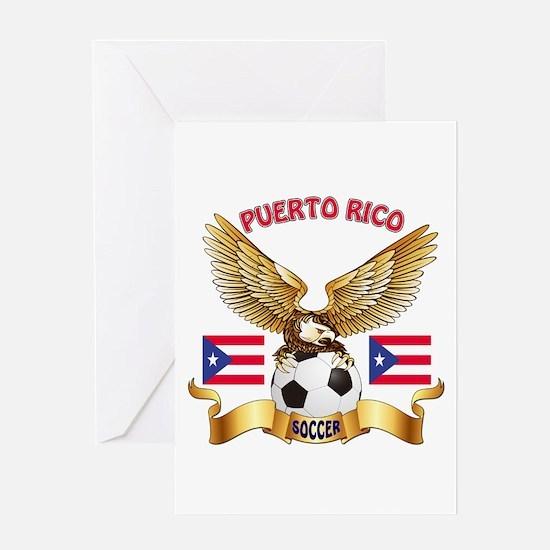 Puerto Rico Football Design Greeting Card