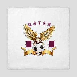Qatar Football Design Queen Duvet