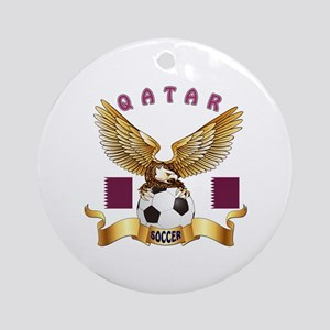 Qatar Football Design Ornament (Round)