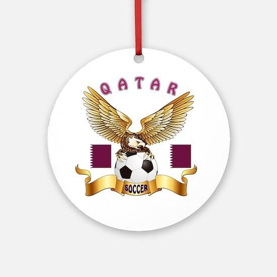Qatar Football Design Ornament (Round)