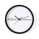 EvilCoffeechick.com Logo Wall Clock