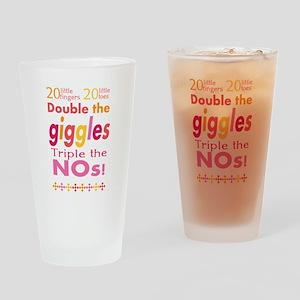 Twin nursery decor Drinking Glass