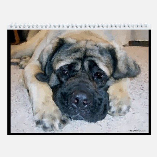 Mastiff Adult B Wall Calendar