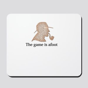 the game is afoot Sherlock Holmes mystery tee Mous