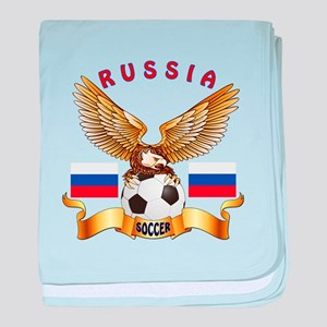Russia Football Design baby blanket