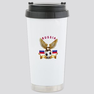 Russia Football Design Stainless Steel Travel Mug