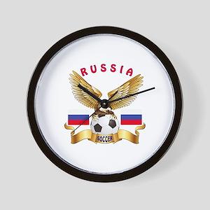Russia Football Design Wall Clock