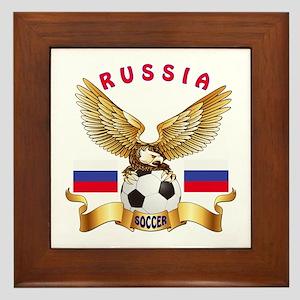 Russia Football Design Framed Tile