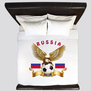 Russia Football Design King Duvet