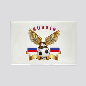 Russia Football Design Rectangle Magnet