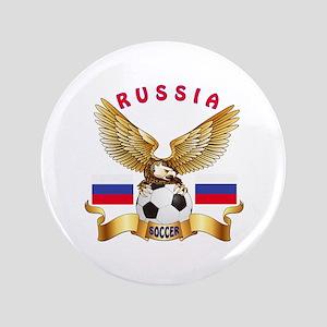 """Russia Football Design 3.5"""" Button"""