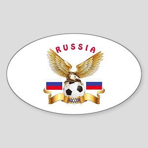 Russia Football Design Sticker (Oval)