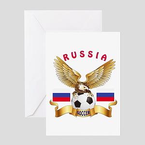 Russia Football Design Greeting Card