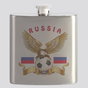 Russia Football Design Flask