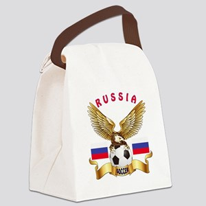 Russia Football Design Canvas Lunch Bag
