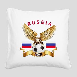 Russia Football Design Square Canvas Pillow