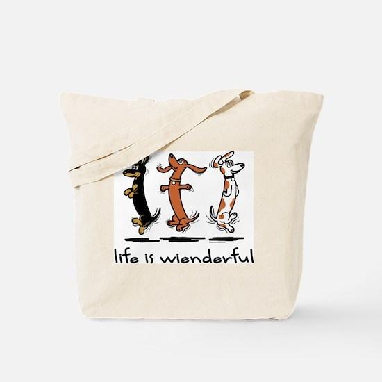 Cute Funny weiner Tote Bag