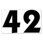 42 Sticker (Rectangle 10 pk)
