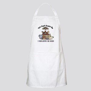 I believe in God BBQ Apron