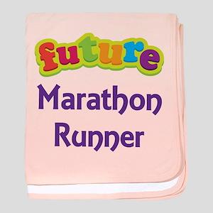 Future Marathon Runner baby blanket