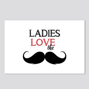 Ladies love the stache Postcards (Package of 8)