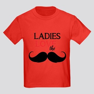 Ladies love the stache Kids Dark T-Shirt