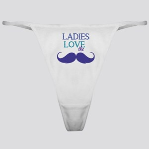 Ladies love the stache Classic Thong