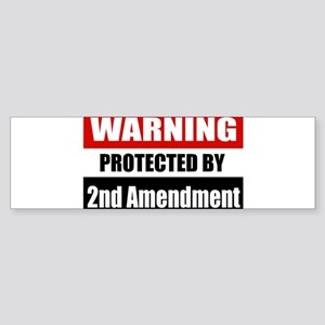 Warning Protected By The 2nd Amendment Sticker (Bu