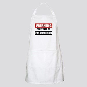 Warning Protected By The 2nd Amendment Apron