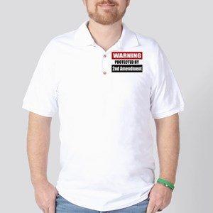 Warning Protected By The 2nd Amendment Golf Shirt
