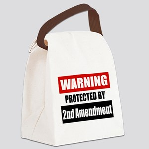 Warning Protected By The 2nd Amendment Canvas Lunc